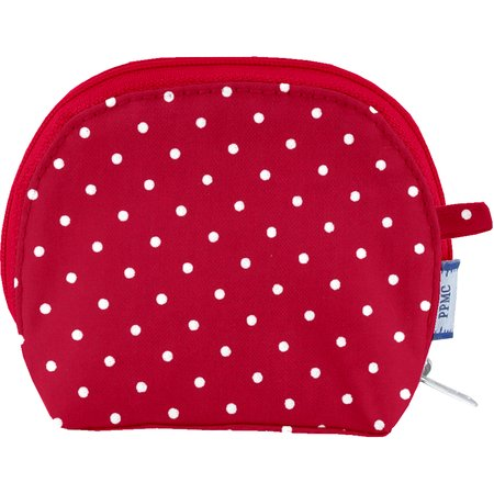 gusset coin purse red spots