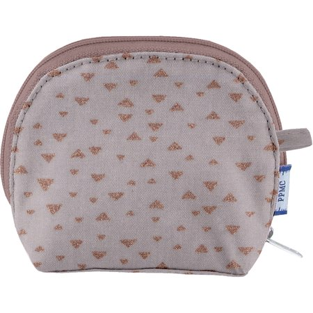 gusset coin purse triangle cuivré gris