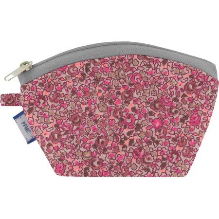 Porte-monnaie lichen prune rose