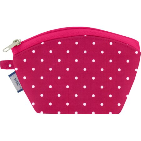 Coin Purse fuschia spots