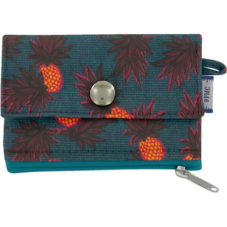 zipper pouch card purse pineapple party