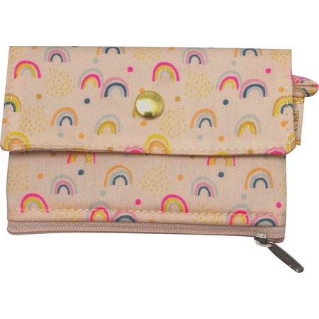 zipper pouch card purse rainbow