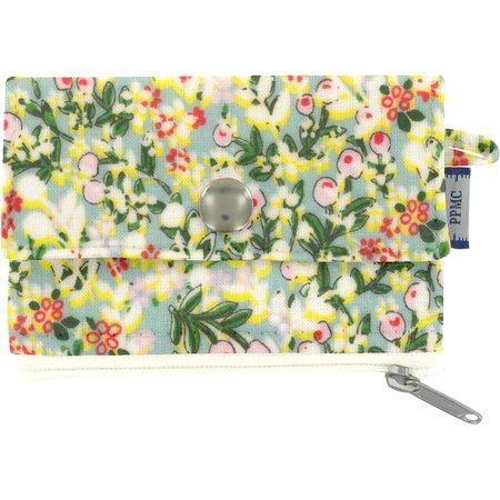 zipper pouch card purse menthol berry