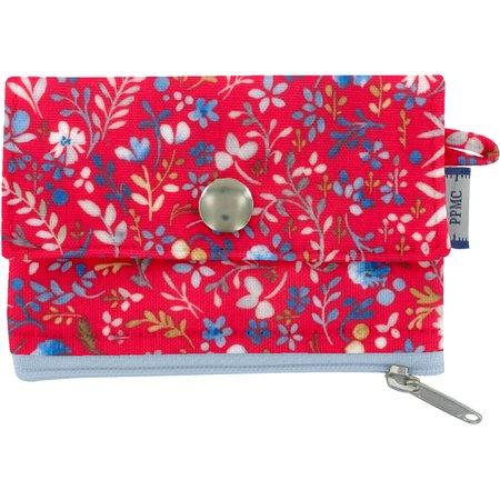 Mini pochette porte-monnaie bleuets cherry