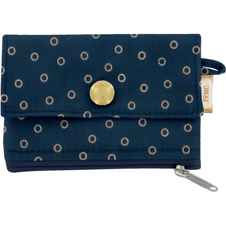 zipper pouch card purse bulle bronze marine