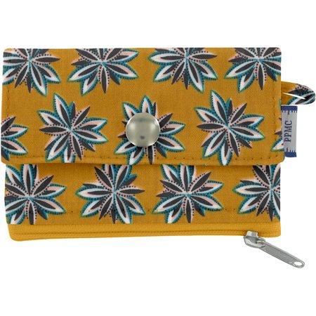 Mini pochette porte-monnaie etoile anisée