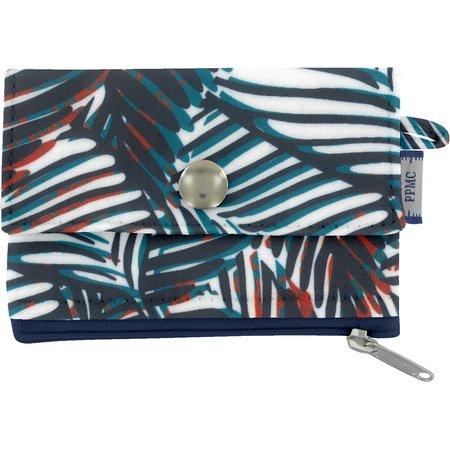 zipper pouch card purse feuillage marine