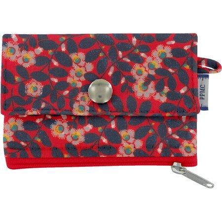 zipper pouch card purse vermilion foliage