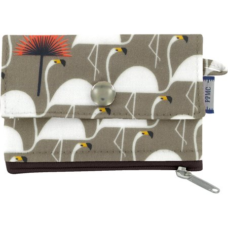 zipper pouch card purse flamingo