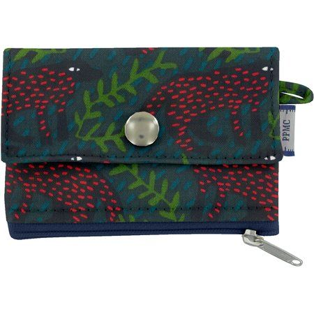 zipper pouch card purse wolf of the woods