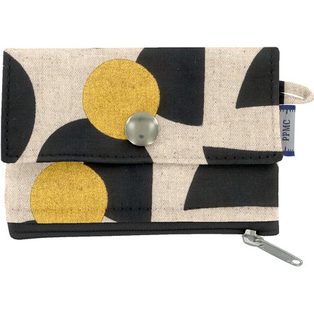 zipper pouch card purse golden moon