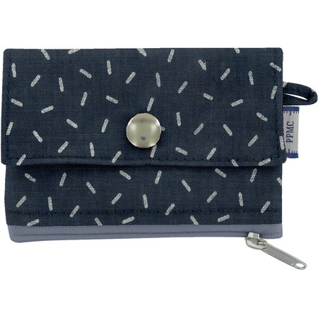 zipper pouch card purse silver straw jeans