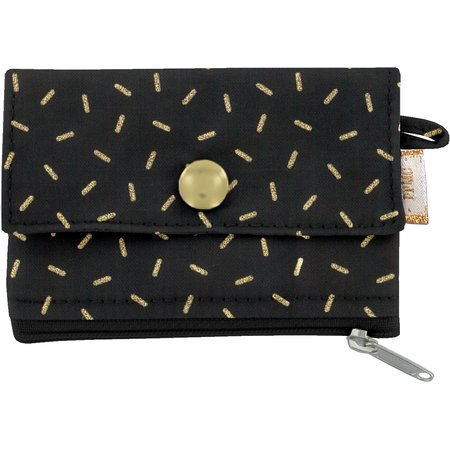 zipper pouch card purse golden straw