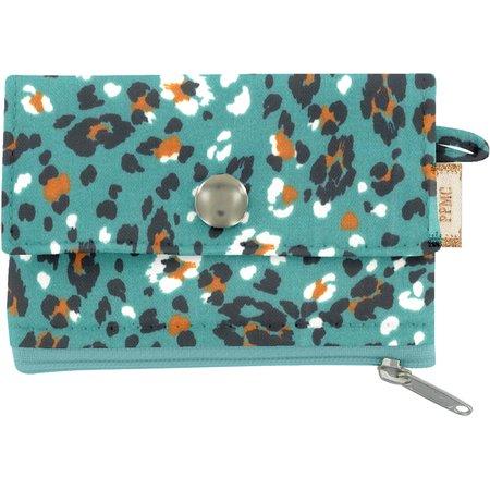zipper pouch card purse jade panther
