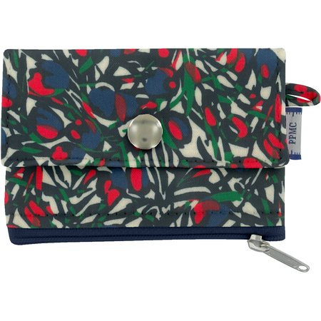 zipper pouch card purse  tulipes