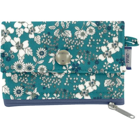 zipper pouch card purse celadon violette