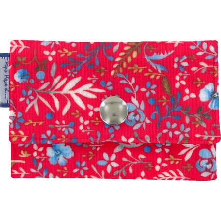 Porte multi-cartes bleuets cherry