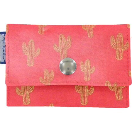 Porte multi-cartes cactus or