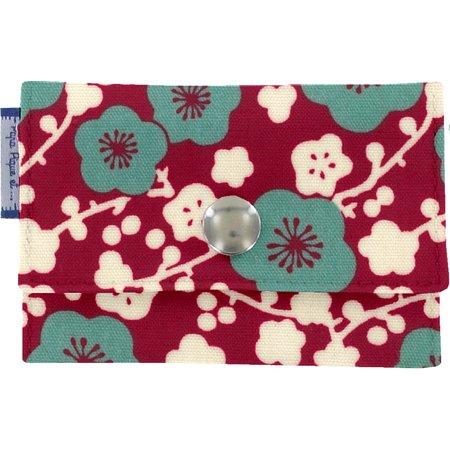Porte multi-cartes cerisier rubis jade