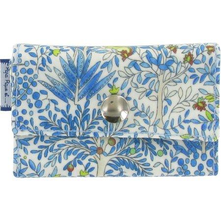 Porte multi-cartes forêt bleue