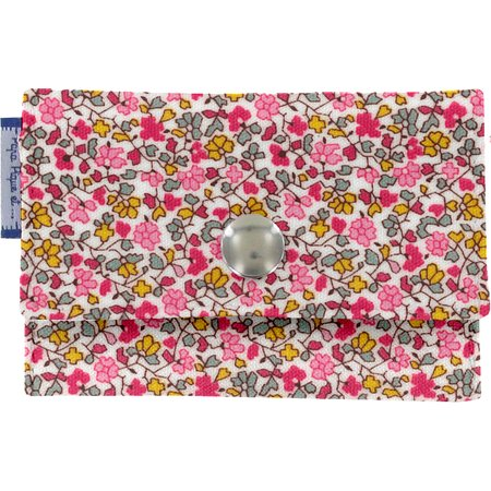 Porte multi-cartes jasmin rose