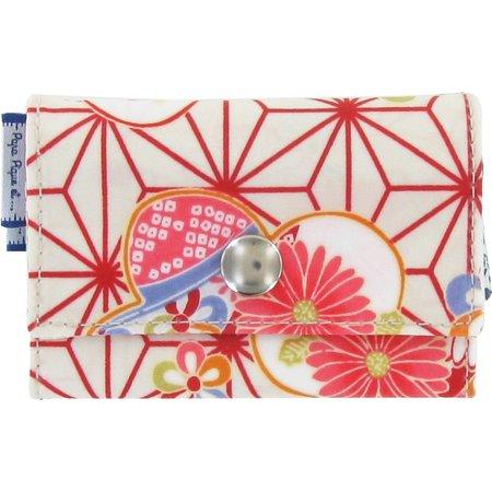 Porte multi-cartes  origamis fleuris