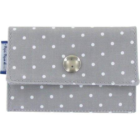 Multi card holder light grey spots