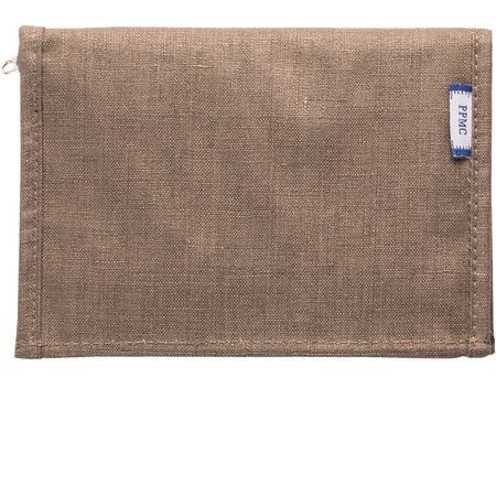 Compact wallet copper linen
