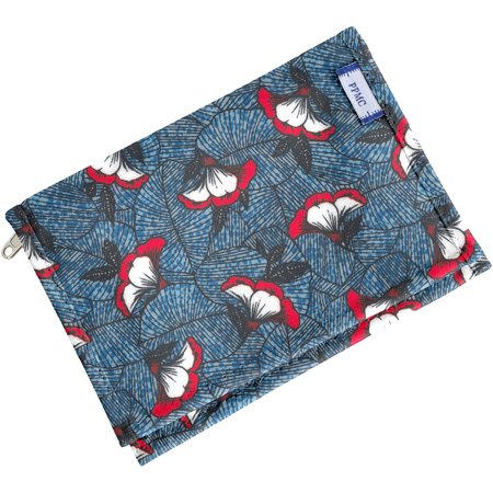 Compact wallet flowered night