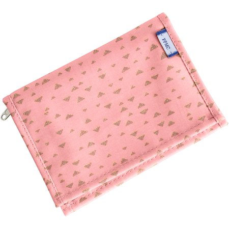 Compact wallet triangle or poudré