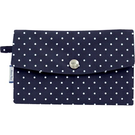Wallet navy blue spots