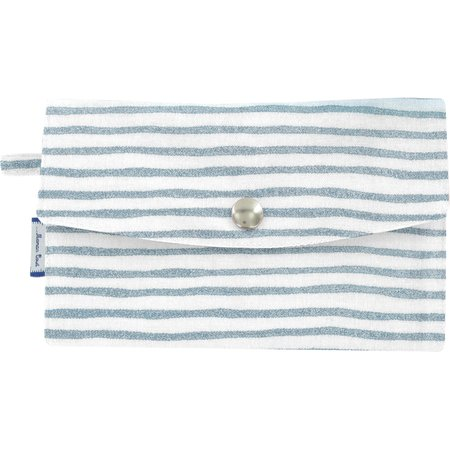 Portefeuille rayé bleu blanc