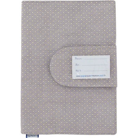 Funda de cartilla sanitaria etoile or gris
