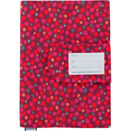 Health book cover pompons cerise
