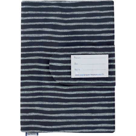 Health book cover striped silver dark blue