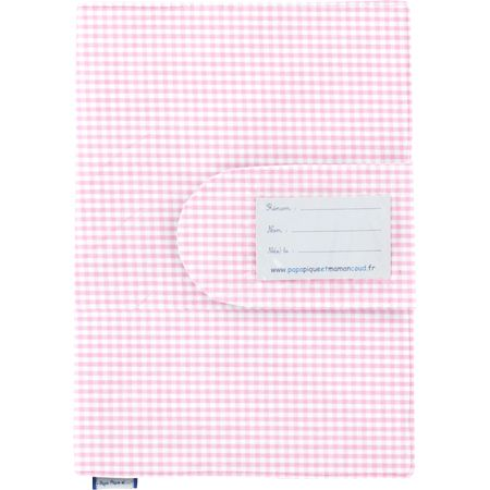 Health book cover pink gingham