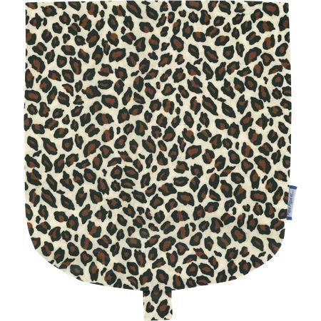 Flap of small shoulder bag leopard print