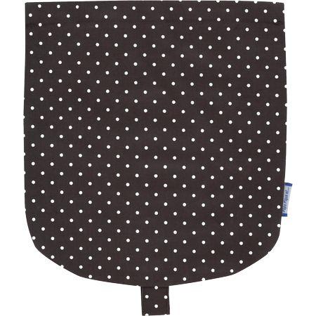 Flap of small shoulder bag brown spots