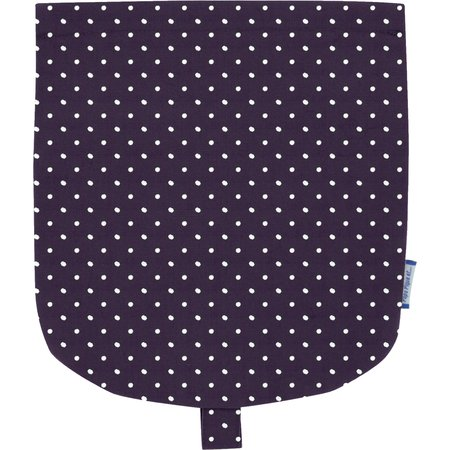 Flap of small shoulder bag plum spots