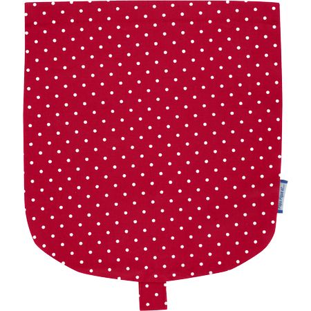 Flap of small shoulder bag red spots