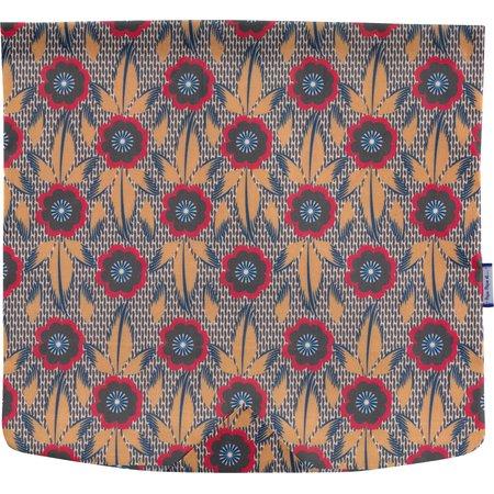 Square flap of saddle bag  fleurs de savane