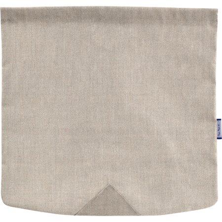 Tapa de bolso cruzado cuadrado lino plateado