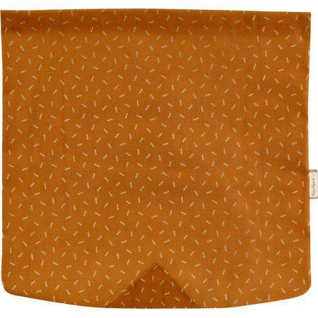 Rabat besace carré grand paille dorée caramel