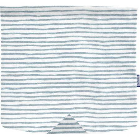 Square flap of saddle bag  striped blue gray glitter