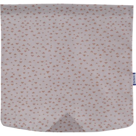 Square flap of saddle bag  triangle cuivré gris