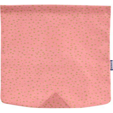 Rabat besace carré grand triangle or poudré