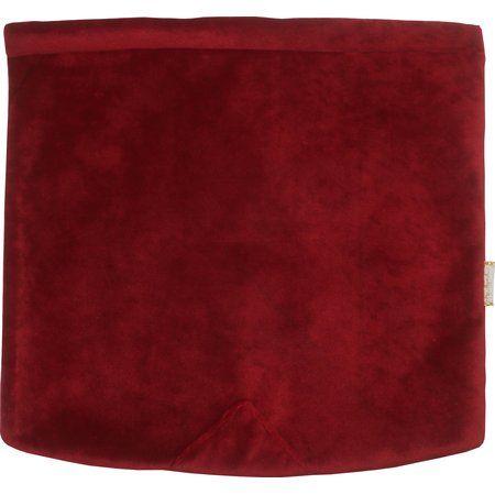 Rabat besace carré grand  velours rouge