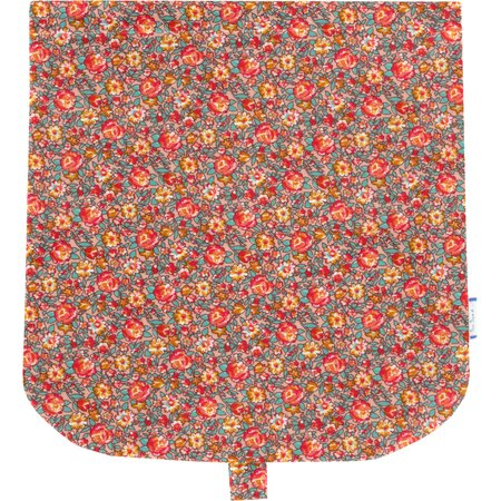 Flap of saddle bag peach flower