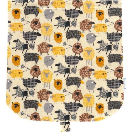 Flap of saddle bag yellow sheep