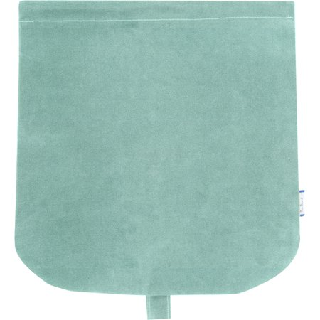 Tapa de bolso cruzado suédine bleu nordique